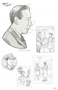 Marty Quade Prelim Sketches